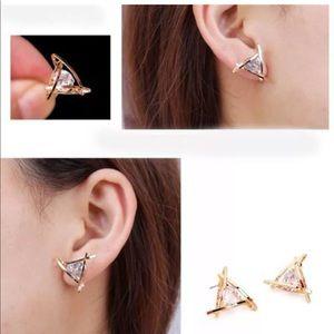 Jewelry - New fashion women lady triangle crystal rhinestone
